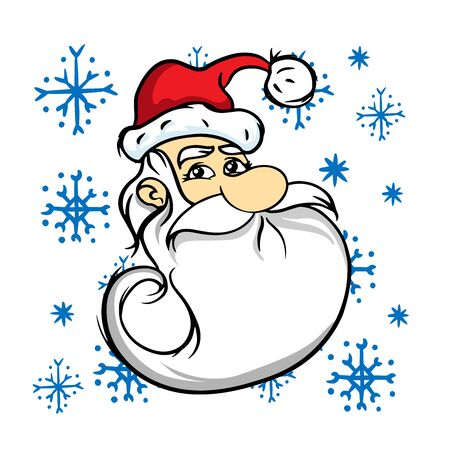 doodle sketch santa claus on white background
