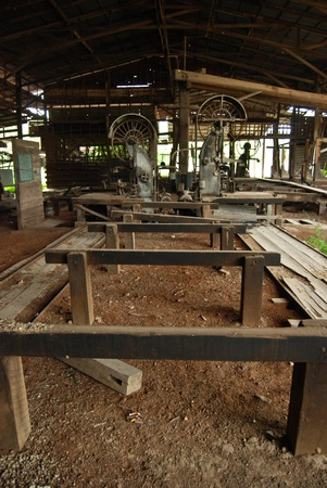 wood machinery in wood mill