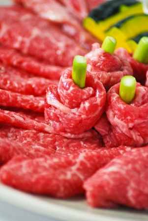 rib eye: Rib eye, beef grill japanese style Stock Photo