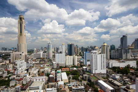 Urban view of Bangkok, cloudy Stock Photo - 15647876