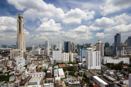 Urban view of Bangkok, cloudy Stock Photo - 15647876
