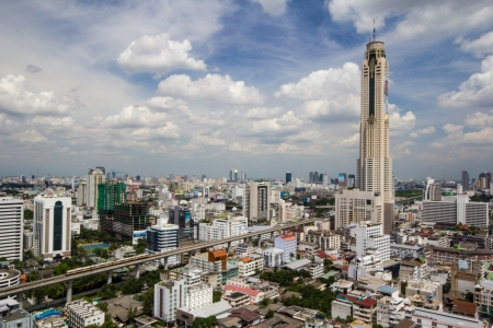 Bangkok city, sky train and highest tower Stock Photo - 15647884