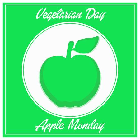 logo vegetarian day apple monday fhesh week