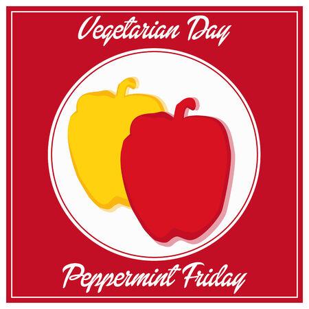 vegetarian day peppermint friday fhesh week Ilustração