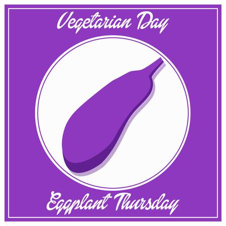 vegetarian day eggplant thursday fhesh week