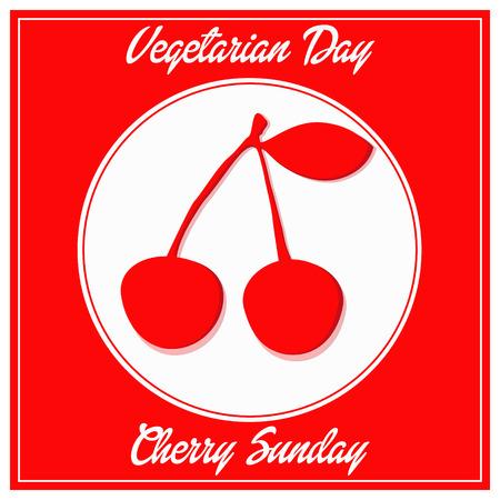 vegetarian day cherry sunday fhesh week