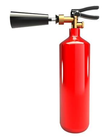 smother: Fire extinguisher (isolated) on white background 3d