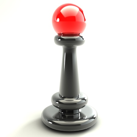 high resolution: 3d Chess Black and red  High resolution
