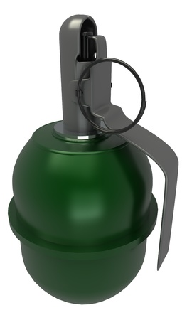 Stylized hand grenade - 3d rendered illustration illustration