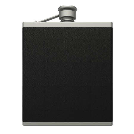 hip flask: hip flask  Isolated  white 3d