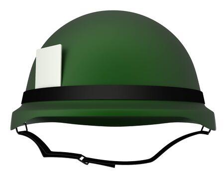 vietnam war: Army helmet  isolated  white 3d