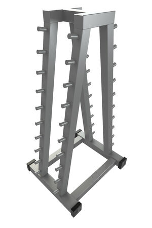 Rack for storing dumbbells  Isolated  white background  3d
