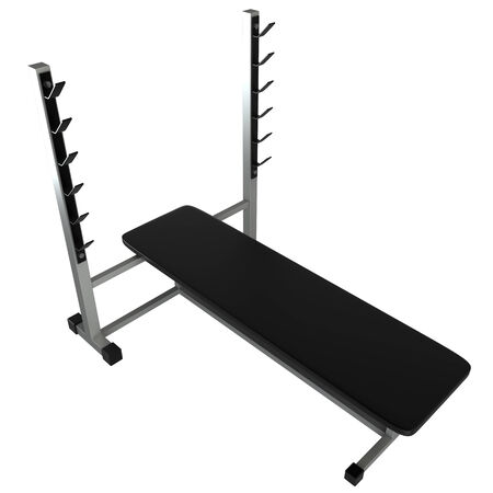 weighted: Fitness machines  isolated  white background  3d Stock Photo