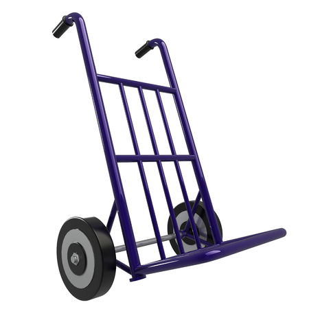 trolley case: Hand truck  isolated  white background  3d Stock Photo