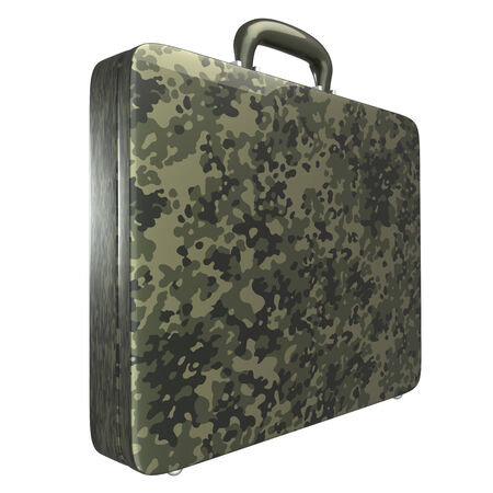 military case  isolated  a white background  3d photo