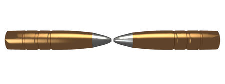 the collision of two bullets  concept  isolated  background  white  3d photo