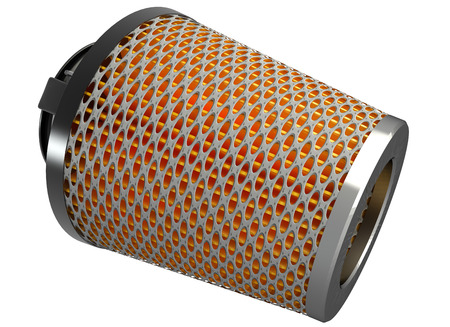 high torque: Air cone filter  isolated on white background  automobile accessory  3d