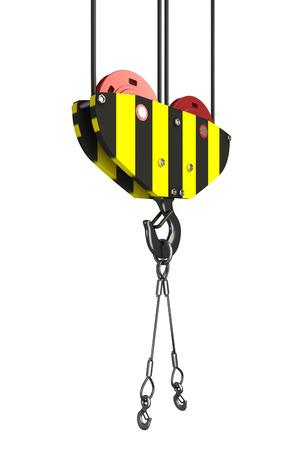 Crane hook  Isolated  white background  3D Reklamní fotografie