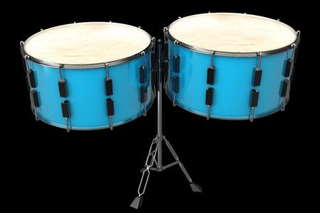 drum. isolated on black background. 3d illustration