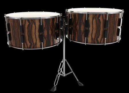 jazz time: drum. isolated on black background. 3d illustration