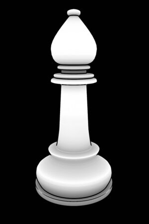 competitor: chess bishop. isolated black background. 3d