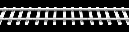 철도. 검은 배경에 고립. 3d 스톡 콘텐츠
