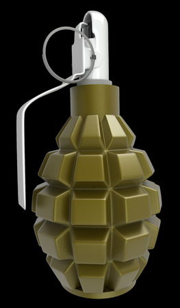 grenade. isolated on black background. 3d