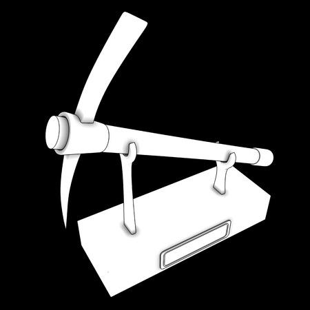 explocion: taza de pico. aislado en el fondo negro. 3d
