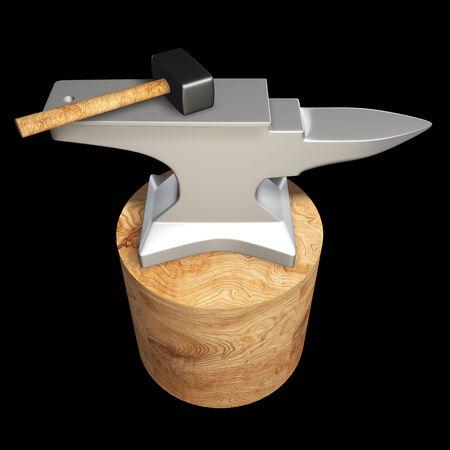 anvil. isolated on black 3d illustration. high resolution illustration