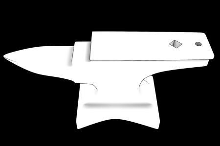 anvil. isolated on black . 3d photo