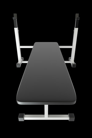 machines: Fitness machines. isolated. black background. 3d Stock Photo