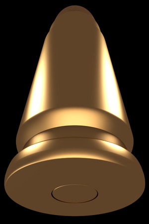 3d bullet: Bullet. Concept. isolated. black . 3d Stock Photo