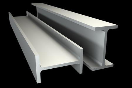 joist: metallic joist. isolated on black background. 3d illustration Stock Photo