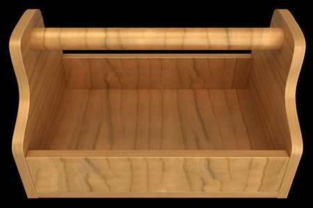 Empty toolbox. isolated on black background. 3d illustration illustration
