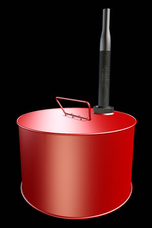 Fuel container. realistic. isolated on black background. 3d illustration illustration