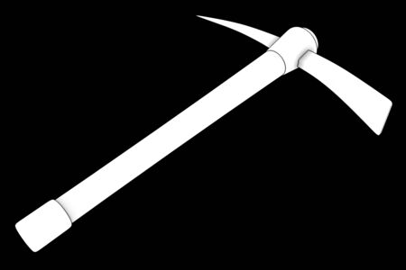 pickaxe: pickaxe. isolated on black background. 3d