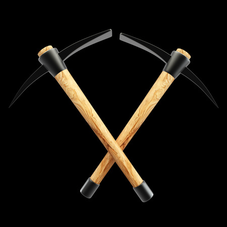 pickaxe. isolated on black background 3d illustration. high resolution illustration