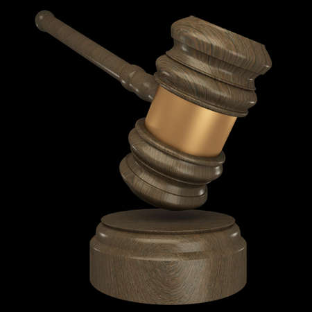 Judge gavel. isolated on black 3d illustration. high resolution illustration