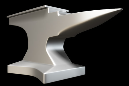 anvil: anvil. isolated on black background 3d illustration. high resolution Stock Photo