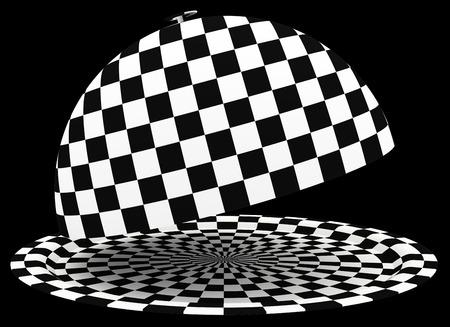Restaurant cloche. isolated on black . 3d illustration illustration