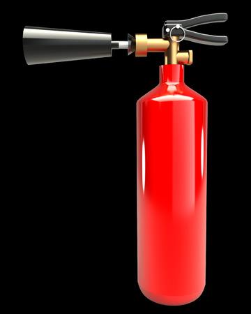 Fire extinguisher. realistic. isolated on black background. 3d illustration illustration
