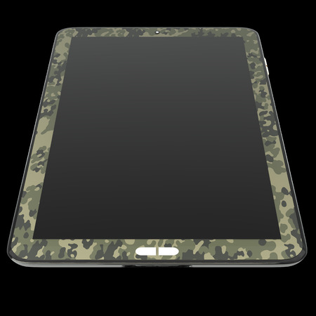 Realistic Tablet PC. isolated on black background 3d illustration. high resolution illustration