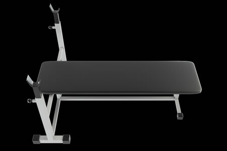 weighted: Fitness machines. isolated. black background. 3d Stock Photo