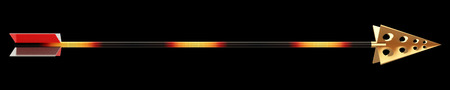 longbow: arrow for the bow. isolated on black background. 3d illustration Stock Photo