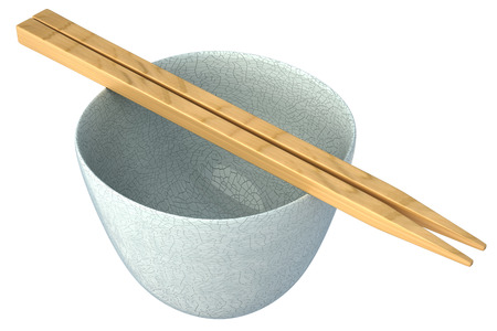 empty bowl: Empty bowl for japan food. Isolated on white background. 3d Stock Photo