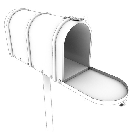 Mailbox. Isolated on White Background. 3d photo