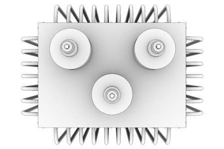 isolators: Transformer on high power station. Isolated on white background. 3d Stock Photo