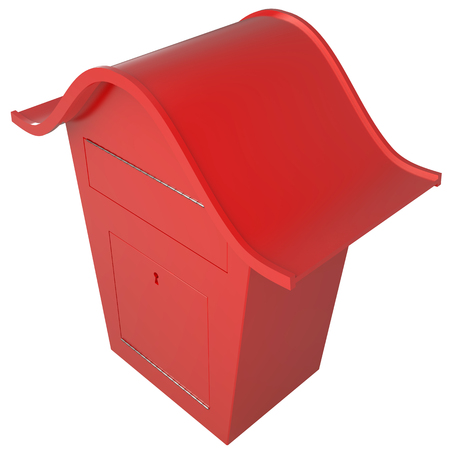 Mailbox isolated on white background High resolution 3d render