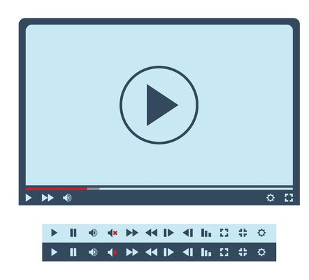 Video player interface and buttons for web