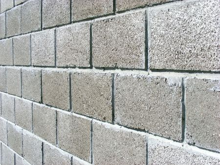 wall of concrete blocks to protect the territory of
